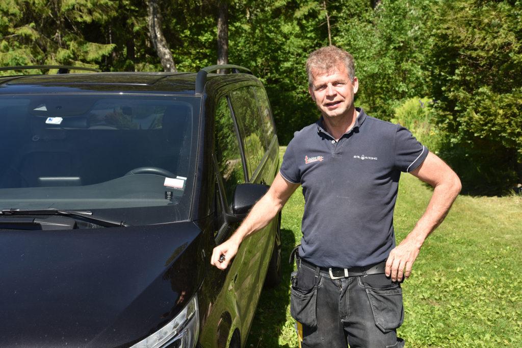 Terje Gulliksen på jobb i juni 2017.